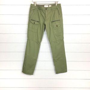 Hei Hei Cargo Zipper Pants Green 29